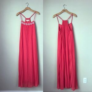 LoveStitch coral maxi dress